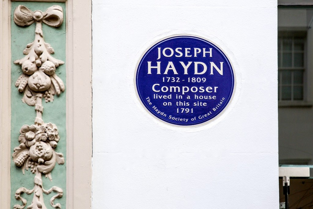 london haydn plaque