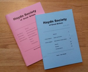 Haydn Society Newsletters