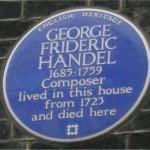 Handel plaque